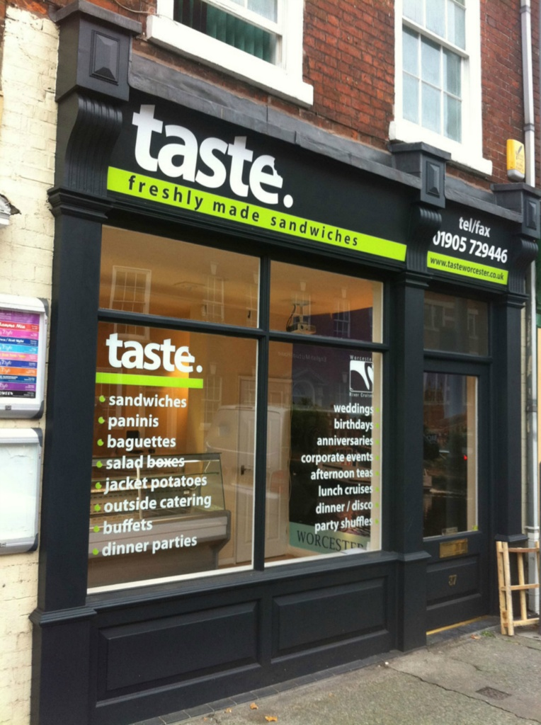 Taste Sandwich Shop Front