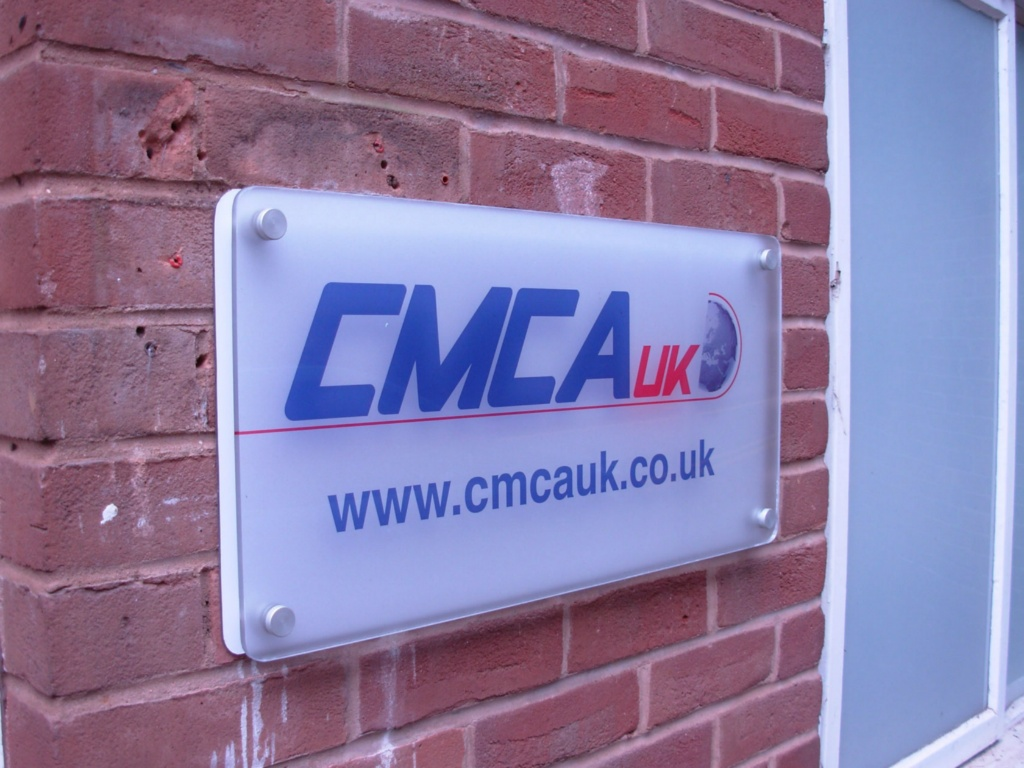 CMCA Acrylic Sign