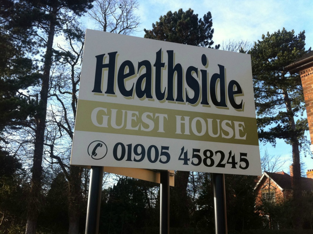 Heathside Guest House Post & Rail Sign