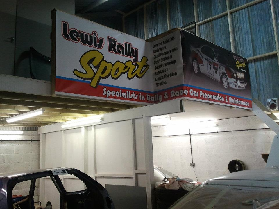Lewis rally sport banner