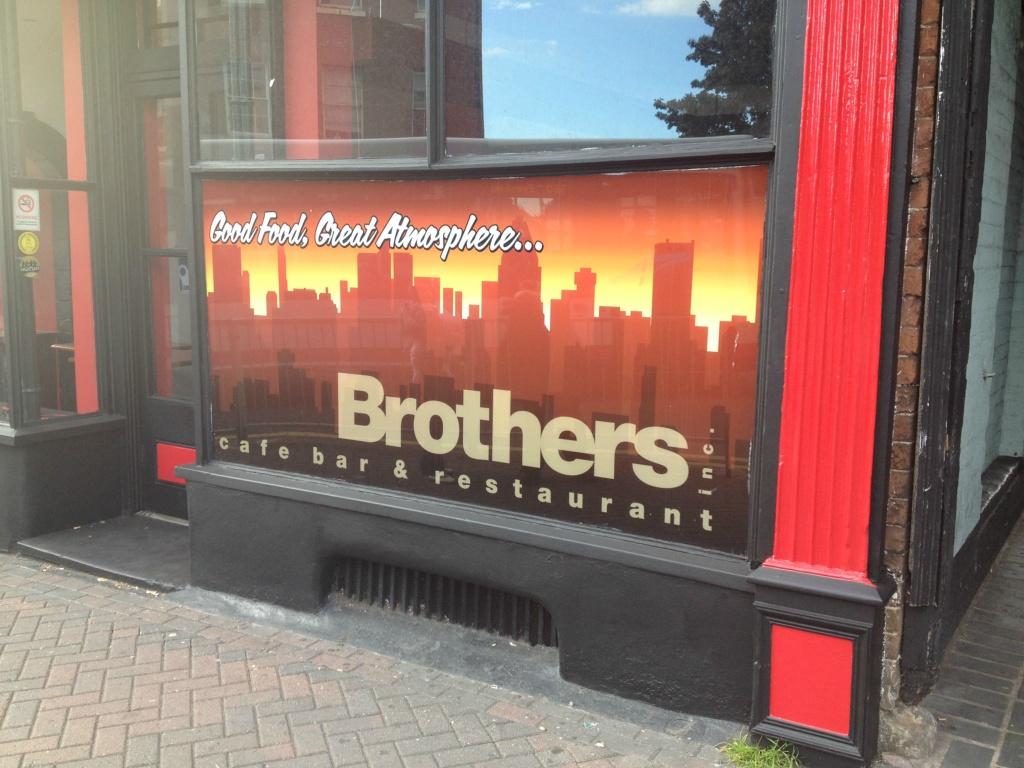 Brothers Bar & Restaurant Window