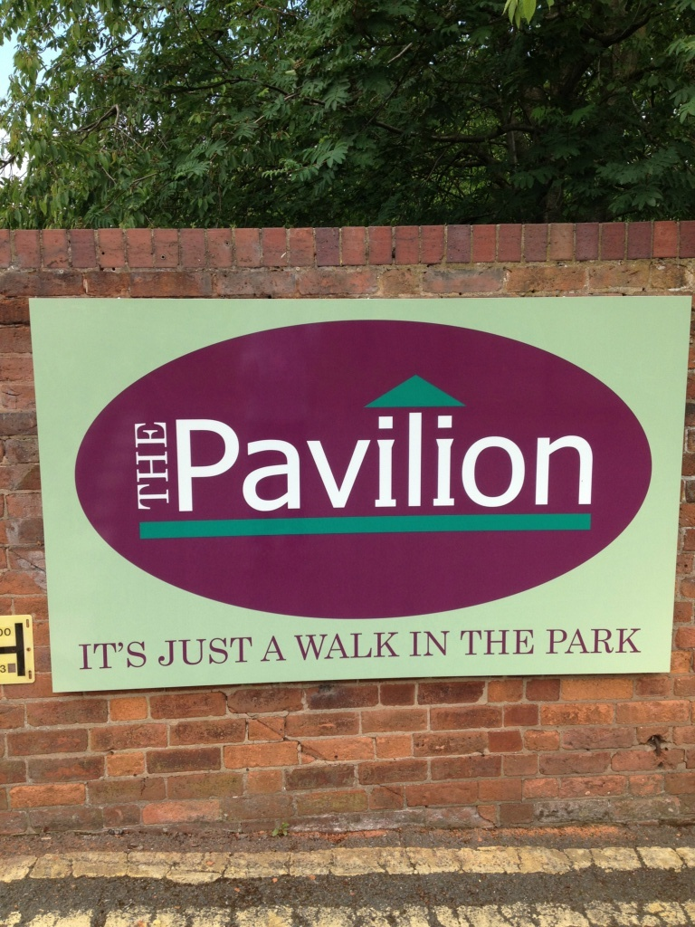 Pavilion Reflective Entrance Sign